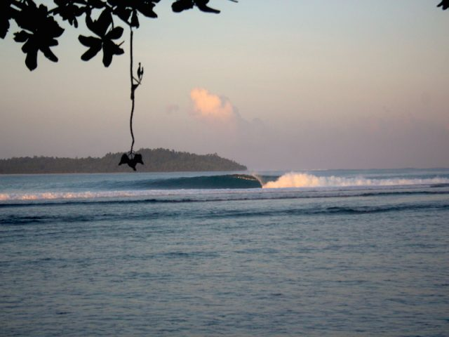Depth Chargers, wave guide, resort latitude zero, surfing, Telo Islands, Sumatra, Indonesia