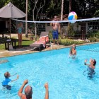 leisure activities, swimming pool, surfing, resort, Indonesia, Sumatra