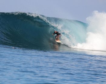 Lee Winkler, surfer, wave, resort latitude zero, Sumatra, Telo Islands