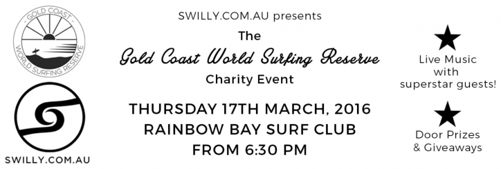 Gold Coast, charity event, surfing, Kelly Slater, World Surfing Reserve