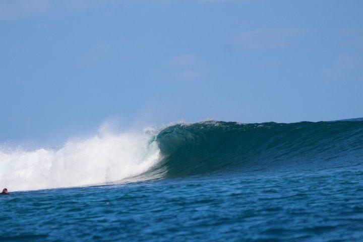 resort latitude zero, Indonesia, surfing, tropical, family, waves, equator, Telo Islands